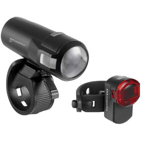Axa Compactline 20 Battery Lighting Set LED StVZO black